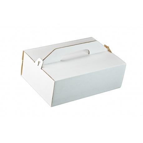 Krabica na zákusky vlnitá lepenka 27x18x8cm (50ks)