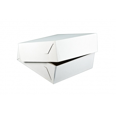 Krabica na tortu vlnitá lepenka 28x28x10cm (50ks)