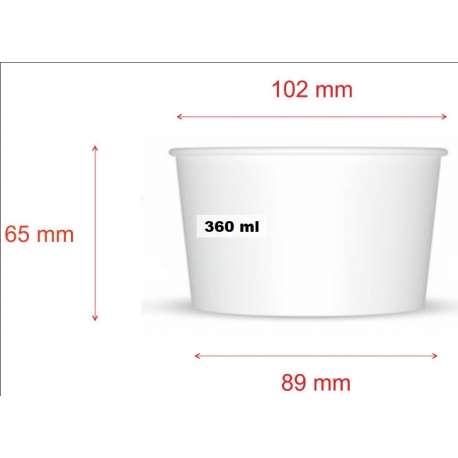 Miska na zmrzlinu 360 biela (25/500ks)
