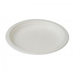 BIO Tanier 23cm okrúhly biely (50ks) E