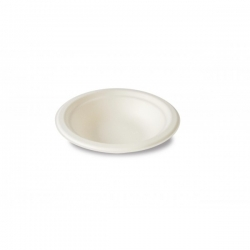 BIO Tanier 18cm, 400ml okrúhly biely (50ks)