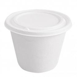 BIO Miska na polievku s viečkom 425 ml biela (50/500ks)