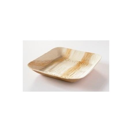 BIO miska palmová hranatá, 17x17cm (25ks)