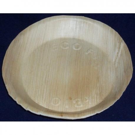 BIO Tanier palmový okrúhly 22cm (25ks)