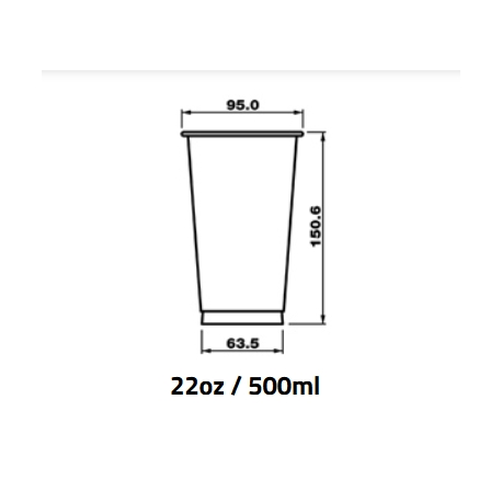 Pohár 500ml PET pr.95mm (50/1200ks)