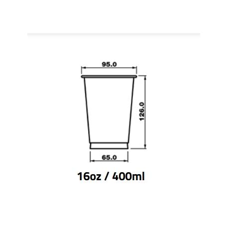 Pohár 400ml PET pr.95mm (50/800ks)