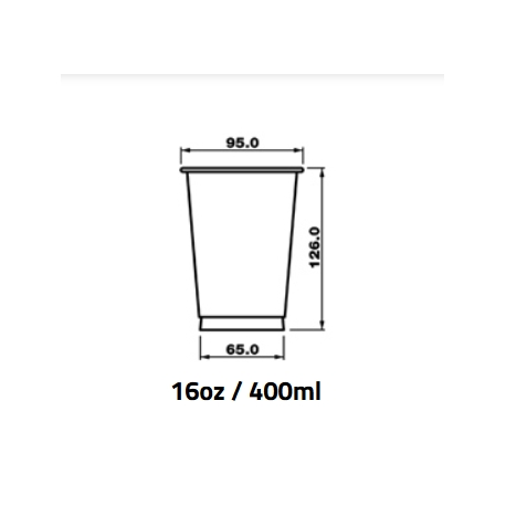 Pohár 400ml PET pr.95mm (50/1200ks)