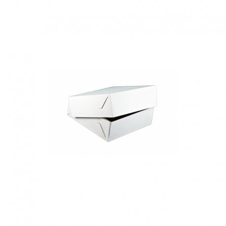 Krabica na zákusky K 18x13x8cm bez ručky biela (50ks)