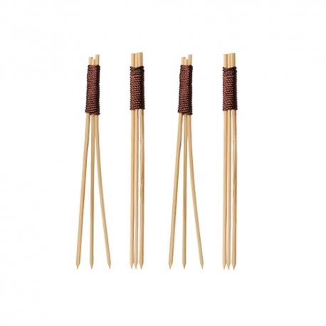 BIO bambusové napichovadlo 9 cm fingerfood trojité (100ks)