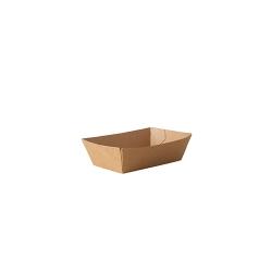 BIO miska hranolky S hnedá 5,2x8,7x3,2cm (50/1000ks)