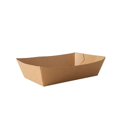 BIO miska hranolky XXL hnedá 10x16,7x5,3 cm (50/500ks)