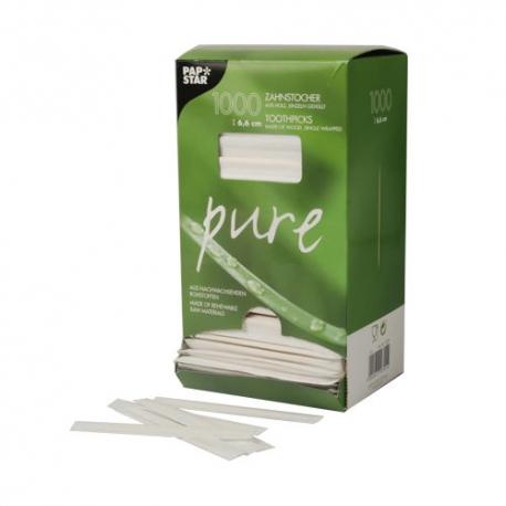 Drevené špáradla hyg. balené papier (1000/12000ks)