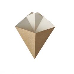 BIO Papierový kornút na hranolky hnedobiely 150g (50/500ks)