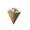 BIO Papierový kornút na hranolky hnedobiely 100g (50/500ks)