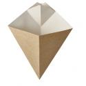 BIO Papierový kornút na hranolky  hnedobiely 300g (50ks)