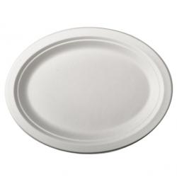 BIO Tácka/tanier oválny 26x19 biely (50/500ks)