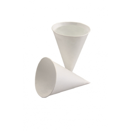 Pohár papier biely kornút 115ml pr.62mm (200/5000ks)