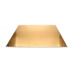 Podnos pod koláče 60x40cm zlatý (1/15ks)