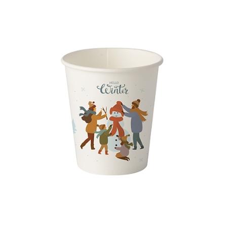 BIO pohár 200 papier Zima pr.80 (50/1000ks)