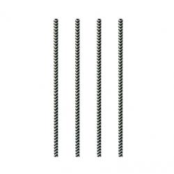 BIO slamka 6mm pap.čiernobiela 20cm (100/1000ks)