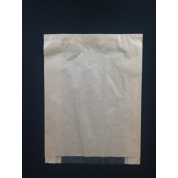 Papierové vrecko s okienkom pečivo 180x320 (100/1000ks)