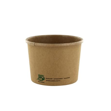 BIO Miska 350ml na polievku Kraft pr.9,8cm (25/500ks)