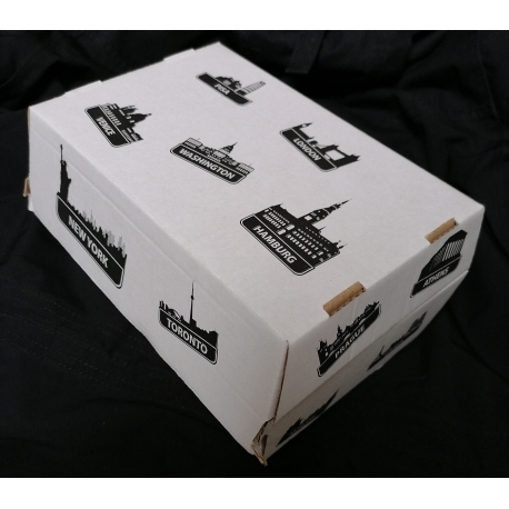 Krabicka na hamburger 19x13x11 cm predelená  (50ks)