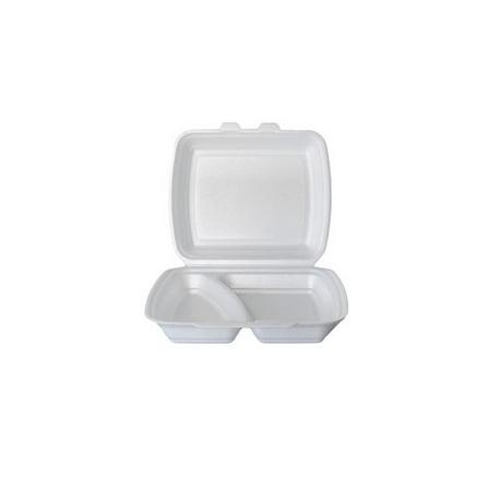 Menu box dvojdielny biely XPS (250 ks)