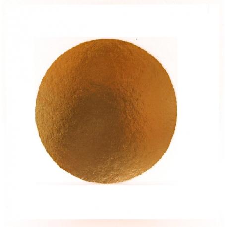 Okrúhly podnos na tortu 26cm zlatý (1/100ks)