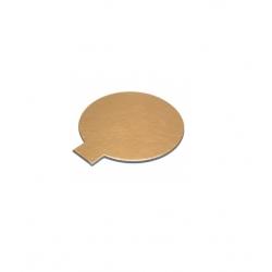Okrúhly podnos na koláčik 10cm zlatý (120ks)