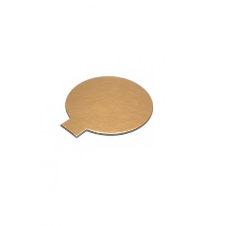 Okrúhly podnos na koláčik 10cm zlatý (100/200ks)