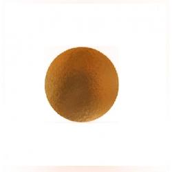 Okrúhly hrubý podnos na tortu 20cm zlatý (1/50ks)