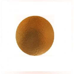 Okrúhly hrubý podnos na tortu 24cm zlatý (1/50ks)