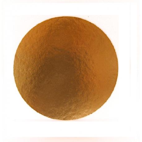 Okrúhly hrubý podnos na tortu 28cm zlatý (1ks)