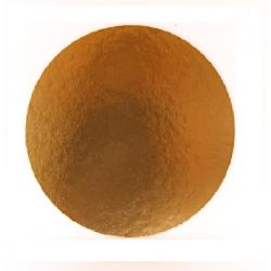Okrúhly hrubý podnos na tortu 30cm zlatý (1/50ks)