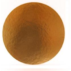 Okrúhly hrubý podnos na tortu 32cm zlatý (1/50ks)