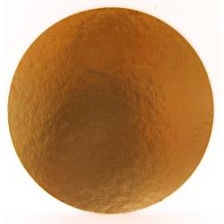 Okrúhly hrubý podnos  34cm zlatý (1ks)