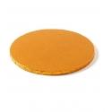 Okrúhly extra hrubý podnos pr.28 zlatý (1ks)