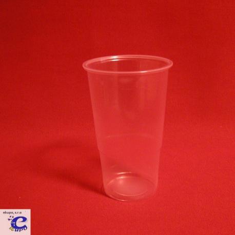 Pohár 300 PLAST transparent (100ks)
