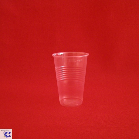 Pohár 200 PLAST transparent (100ks)