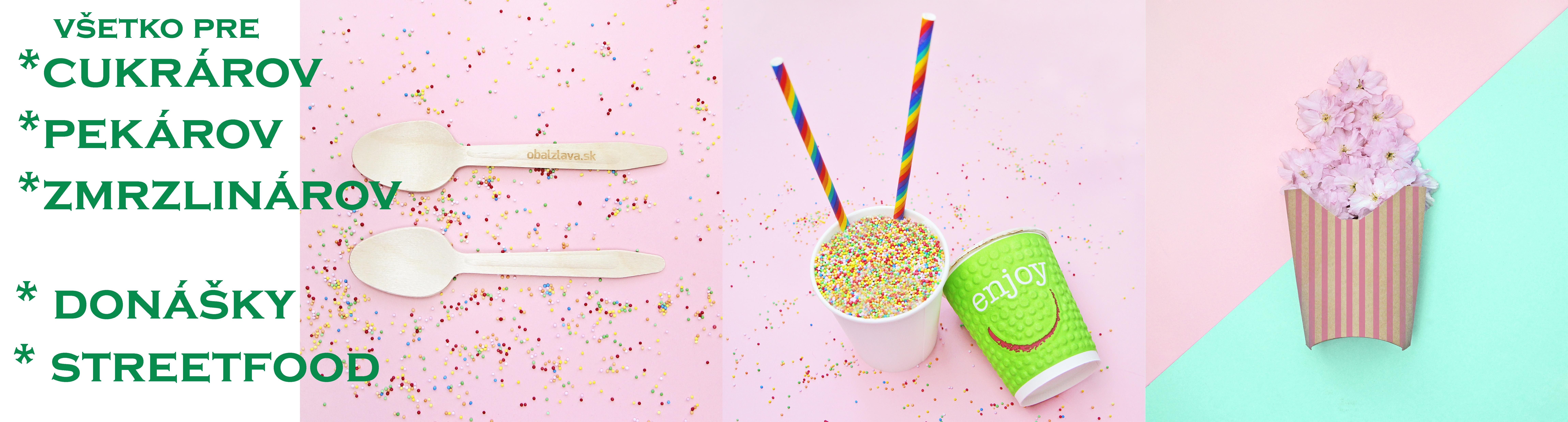 Obaly pre cukrárov, pekárov, zmrzlinárov, streetfood, fingerfood